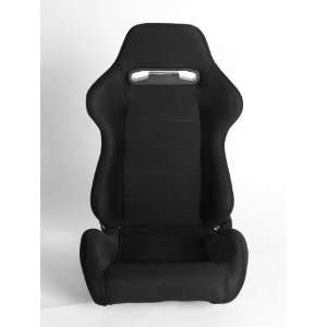 Black Cloth Universal Racing Seats (Two Seats) CPA1013 Automotive