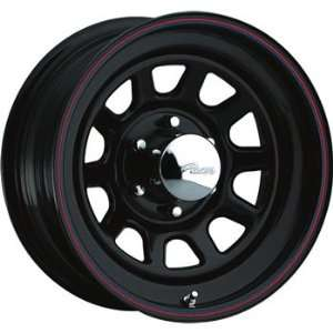 Pacer Black Daytona 16x7 Black Wheel / Rim 5x5.5 with a 0mm Offset and