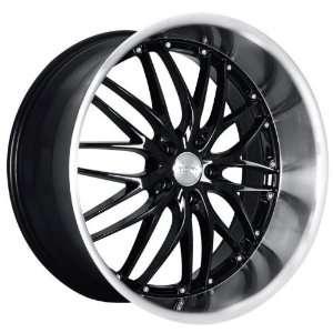 MRR GT1 Wheels Rims 19X8.5 19X9.5 staggered Black w Polish