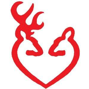 Deer Heart Browning Gun Logo  Car, Truck, Notebook, Vinyl