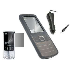 iTALKonline STARTER Pack For Nokia 6700 Classic   Black Silicone Case