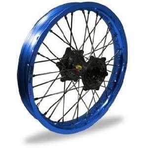 Pro Wheel Supermoto Rear Wheel Set   17x4.25   Blue Rim/Black Hub 27