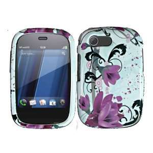 Purple Lily Hard Case Cover for HP Veer 4G Cell Phones & Accessories