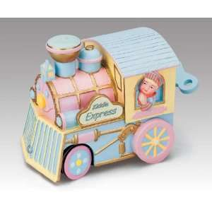 Baby Pink and Blue Animated Train from Mr. Christmas Gold