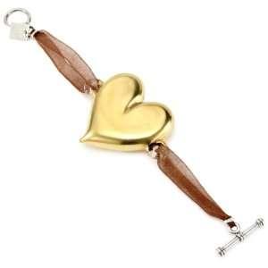Yummi Glass 24k Gold Painted Murano Glass Heart Stretch