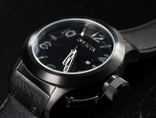 Corduba Black IP Stainless Steel Black Leather Strap Watch 1138