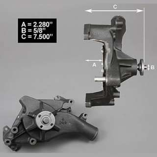 Milodon High Performance Water Pump Ford FE 390 427 428 Steel