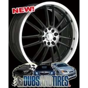 18 Inch 18x7.5 Akita wheels AK25 425 Machined Black wheels