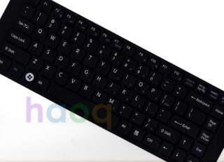 Black keyboard cover skin Protector f Sony FW NW series