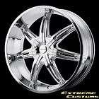 26 x10 KMC Wheels KM665 Surge Chrome 5 6 Lug One Single