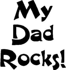 MY DAD ROCKS iron on vinyl transfer for Boys t shirts