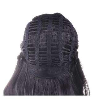 Long Curly Black Classical Classy Soft Hair Wig Kanekalon Synthetic