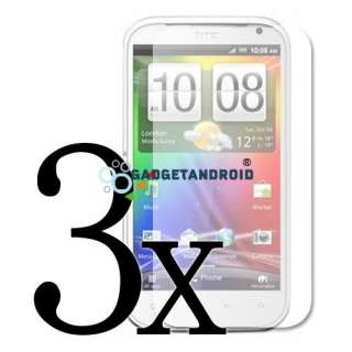 NEW 15IN1 LEATHER CASE CHARGER CABLE LCD FILM GUARD FOR HTC SENSATION