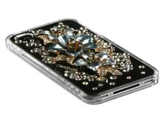 SUPER 3D BLING RHINESTONE DIAMOND HARD CASE COVER APPLE IPHONE 4 4S