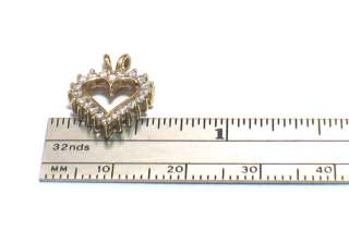 14k Yellow Gold HEART SHAPE Charm Pendant