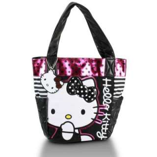 Loungefly Hello Kitty Black Dot Sequin Tote bag