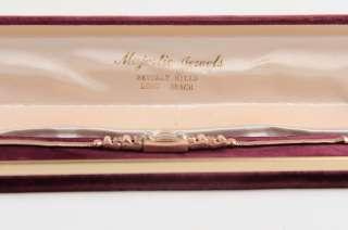 GOTHIC Art Deco 14 kt Gold Diamond Bracelet Rubies Watch Filled Gold