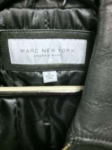 MARC NEW YORK BY ANDREW MARC MENS LEATHER JACKET BLACK(L,XL) 100%