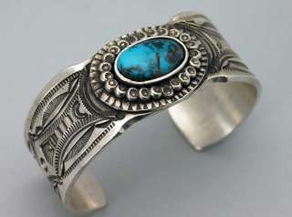 SENSATIONAL Native American ART TAFOYA NATURAL BISBEE Turquoise Silver