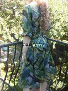 PROPER Suzi Chin Maggy London Boutique Silk Watercolor DRESS 6
