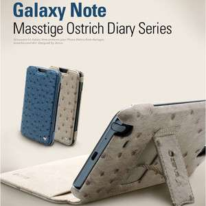 ZENUS Samsung Galaxy Note Leather Case N7000 MASSTIGE OSTRICH DIARY