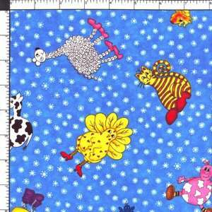 Northcott Funny Farm Wacky Wild Animals Cotton Fabric