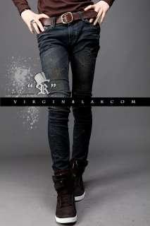 vb HOMME Mens Vintage Wash Distressed Skinny Jeans 0PL
