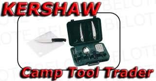 Kershaw Camp Tool Trader Knife Kit w/ Case 1091CT *NEW*