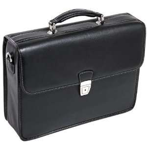 ASHBURN 15145 Black Leather Leather Laptop Case McKlein