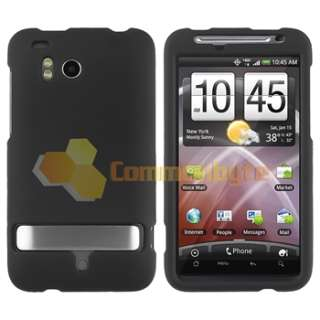 5x Rubber Hard Case Cover+Privacy Film+Car Charger+Cable for HTC
