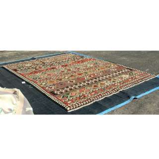 9ft x 12ft Kilim Hand Knotted Wool Rug 70 % OFF MR11206