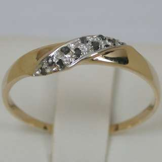 12 CTS 14K SOLID YELLOW GOLD NATURAL SI1 BLACK DIAMOND CLUSTER BAND