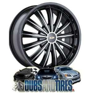 18 Inch 18x7.5 Baccarat wheels TABOO 1160 Machined Black