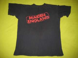 Vtg IRON MAIDEN ENGLAND 1989 PROMO T SHIRT tour OG XL