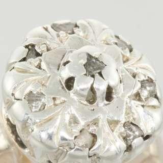 Antique Victorian 14k Gold Rose Diamond Russian Ring