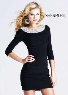 Sherri Hill 1522 Black Mini Cocktail Dress Prom 2012 New NWT Sz 6 8