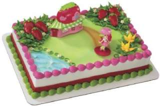 STRAWBERRY SHORTCAKE CAFE CAKE TOPPER birthday supplies