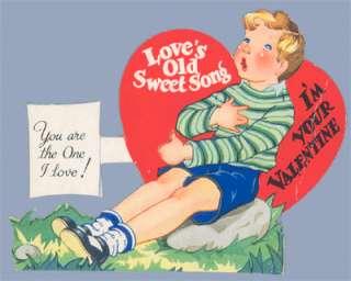 Vintage Valentine 1937 LOVES SWEET SONG Carrington