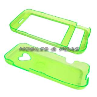 GREEN HARD CASE+LCD GUARD+CAR CHARGER for HTC G1 DREAM