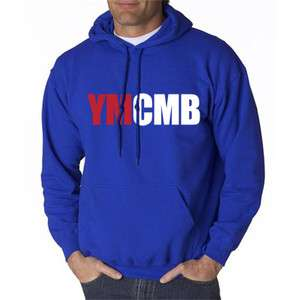 YMCMB HOODIE YOUNG MONEY LIL WEEZY t WAYNE SHIRT ROYAL