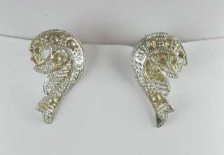 Victorian Angel Wings Scarf / Dress Clips  Late 1800s