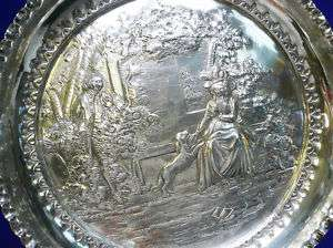 Antique Georgian English Sterling Repousse Dish 1802