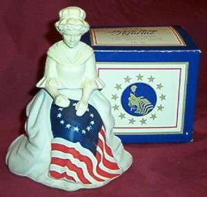 Vintage AVON BOTTLE Betsy Ross Figurine Decanter IN BOX