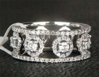 63CT Diamond White Gold Wedding Eternity Band Ring 6#