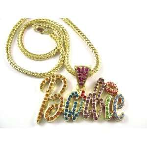 NEW NICKI MINAJ BARBIE Pendant w/Franco Chain Gold Small