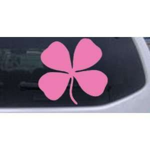 Four Leaf Clover Car Window Wall Laptop Decal Sticker    Pink 18in X