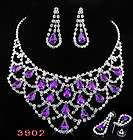 Wedding Bridal Bib Necklace Earrings 1S