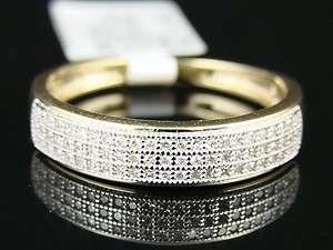 10K MENS 5 MM YELLOW GOLD WEDDING BAND DIAMOND RING