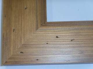 Wide Ponderosa Pine Rustic Picture Frame Pecan