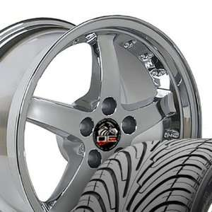 Cobra R Deep Dish Style Wheels and Tires with Rivets Fits Mustang (R